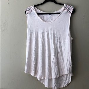 Old navy NWOT cream embroidered tank